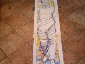 Cristo Risorto, cartone per vetrata artistica
